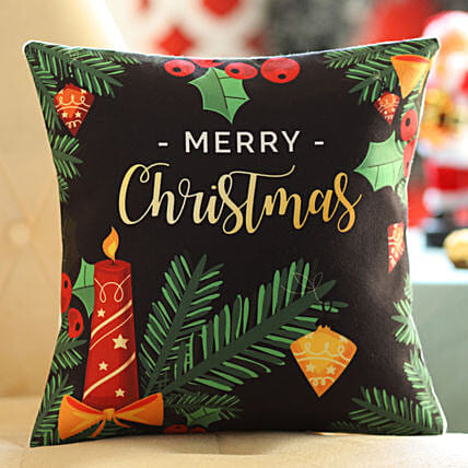 Merry Christmas Printed Cushion Online