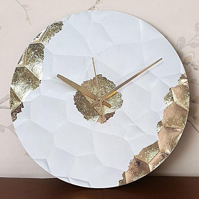 Online White Textured Clock