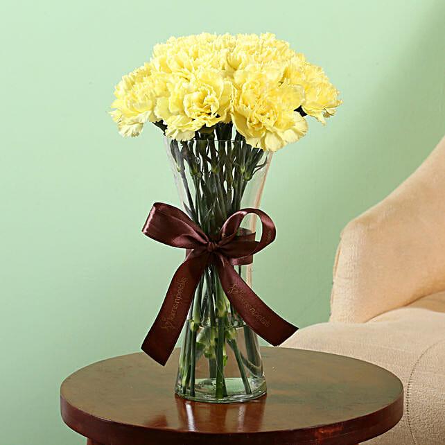 Online Yellow Carnation Vase