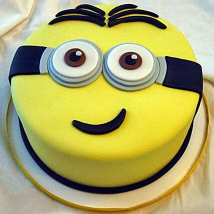 Despicable Me Cartoon Cake for Kids 1kg:Minion Cakes