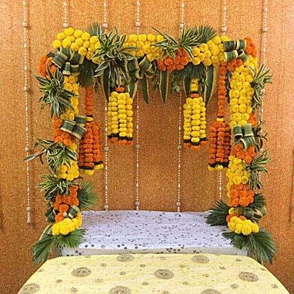 Yellow N Orange Marigold Decoration