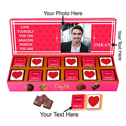 You Are Awesome Chocolate Personalised Gift Box:Personalised Chocolates for Birthday