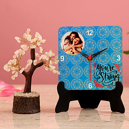 You re Strong Personalised Table Clock Wish Tree Hand Delivery