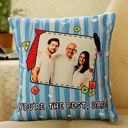 photo cushion for fathers day