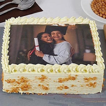 Butterscotch Personalised Photo Cake
