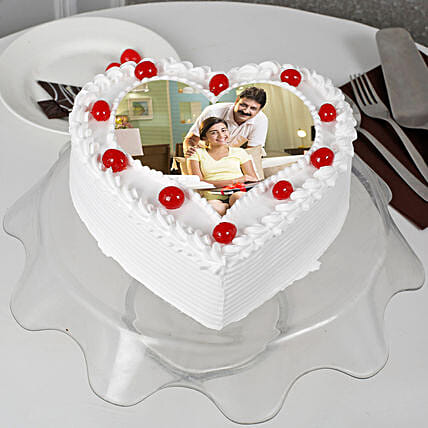 Heart Shape Photo Cakes for Dad