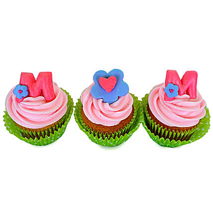 Yummy Surprise For Mom Cupcakes 24 Eggless