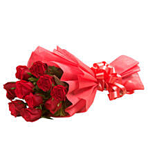 Vivid - Bunch of 10 Red Roses.