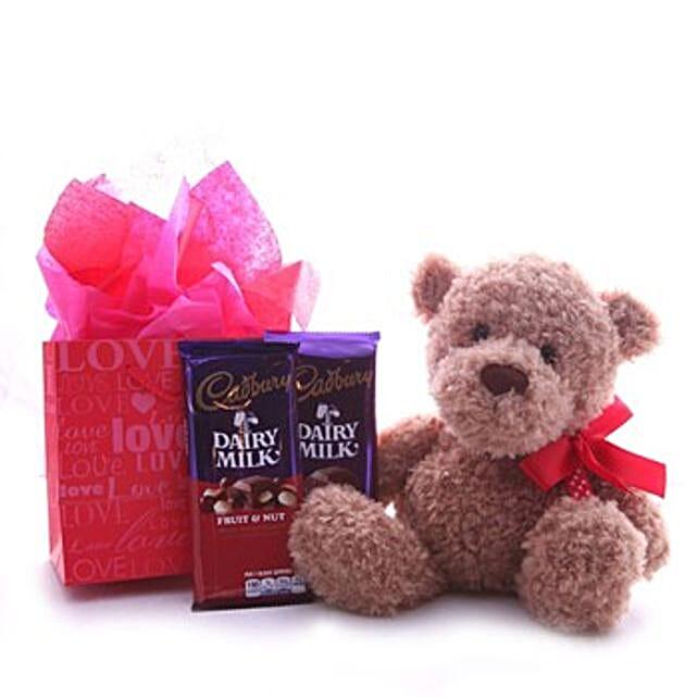 Chocolates N Teddy Hamper:Gifts to Macau
