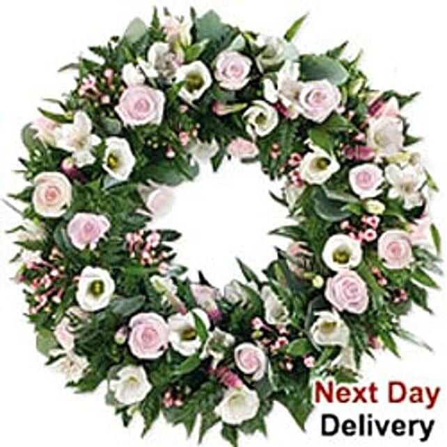 White Wreath-mac:Send Flowers to Macau