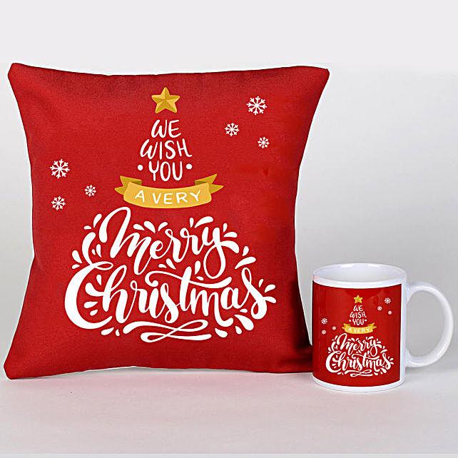 Xmas Greetings Cushion Mug And Cushion