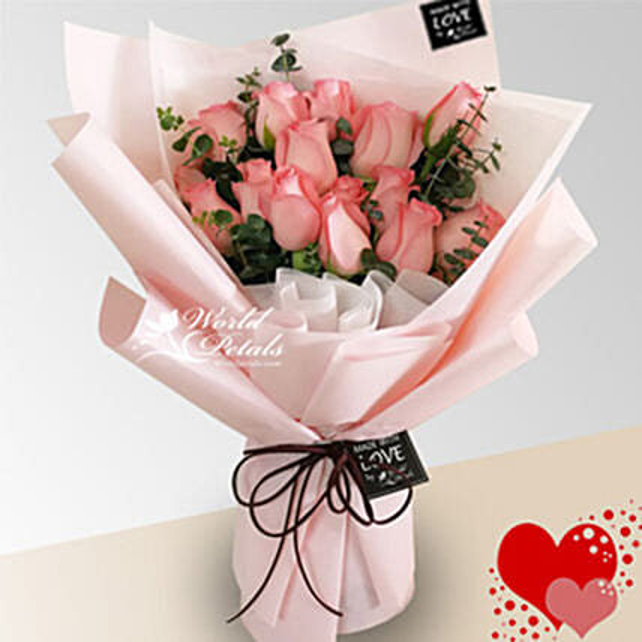 All Pink Flower Bunch