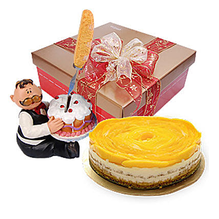 Delicious Mango Cheesecake:Send New Year Cakes In Malaysia