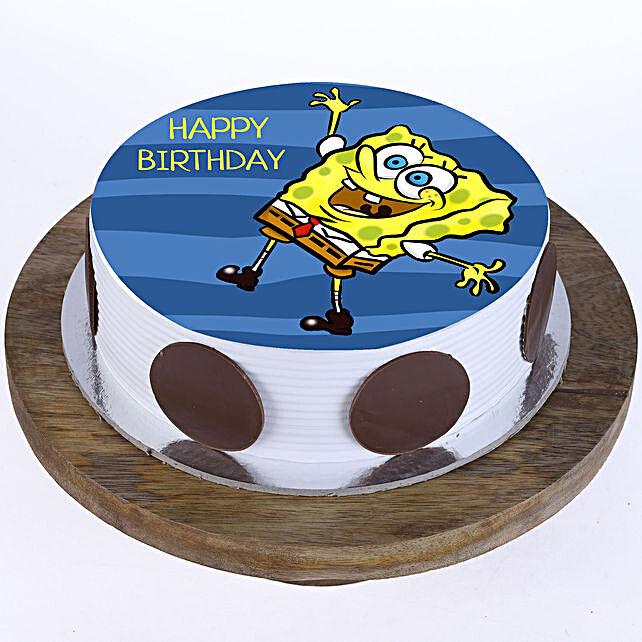 Happy Spongebob Photo Cake