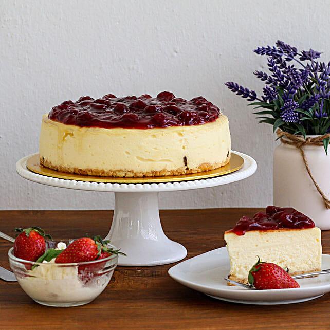 Irresistible Strawberry Cheesecake:Send Anniversary Cakes to Malaysia