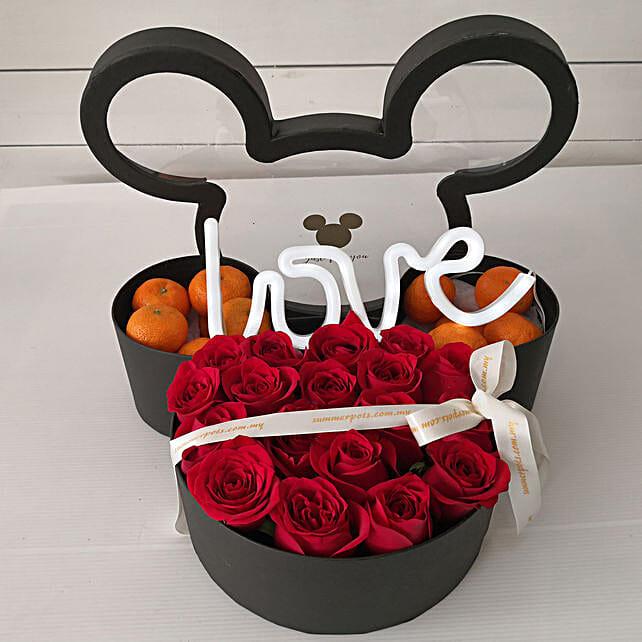 Mickey Valentine Flowers And Oranges