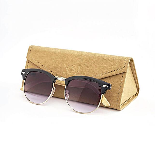 Personalised Cat Eye Bamboo Sunglasses