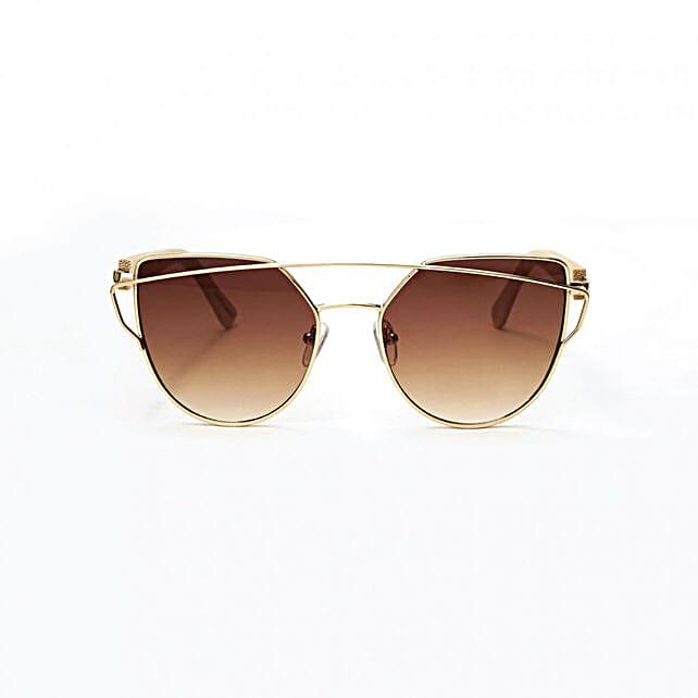 Personalised Cat Eye Brown Bamboo Sunglasses