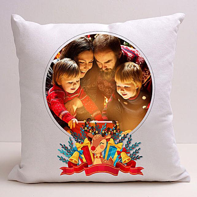 Personalised Joyful Holidays Cushion