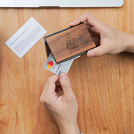 Personalised Wooden Credit Card Holder