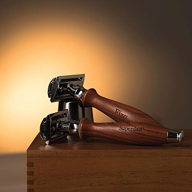 Personalised Wooden Razor