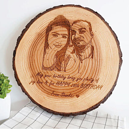Personalised Wooden Slice Deco:Anniversary Gifts Delivery to Malaysia