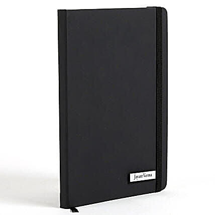 Personalized Black Notebook
