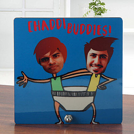 Personalized chaddi buddies table top