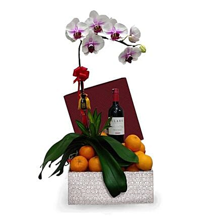 Phalaenopsis Orchid With Tangerinens Wine