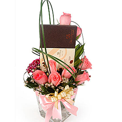 Pink Roses With Truffles