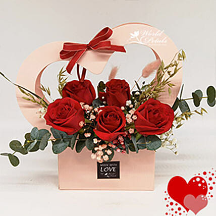 Red Love Floral Arrangement:Send Roses to Malaysia