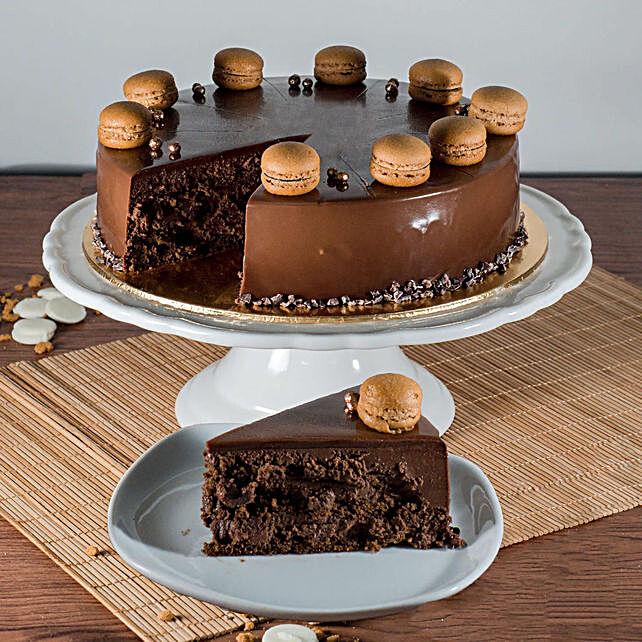 Tempting Callebaut Chocolate Cake