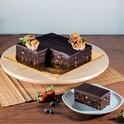 Tempting Chocolate Brownie Cake:Gifts for Kids in Malaysia