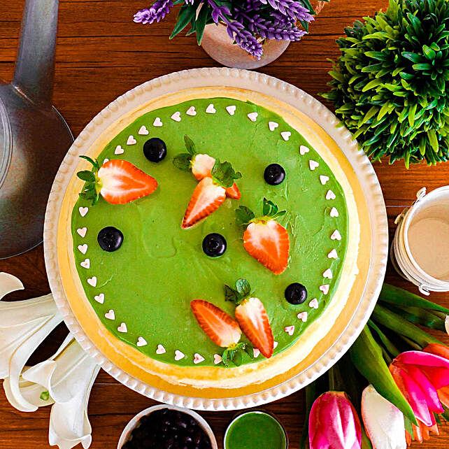 Tempting Green Tea Crepe Cake