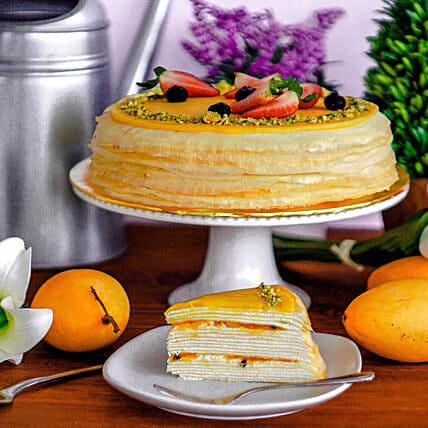 Tempting Mango Passion Crepe Cake:Gifts for Kids in Malaysia