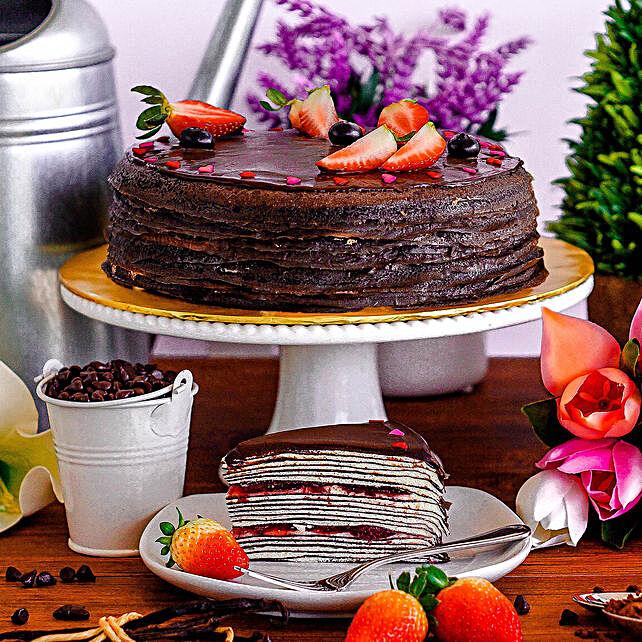 Tempting Neapolitan Crepe Cake:Send Anniversary Cakes to Malaysia