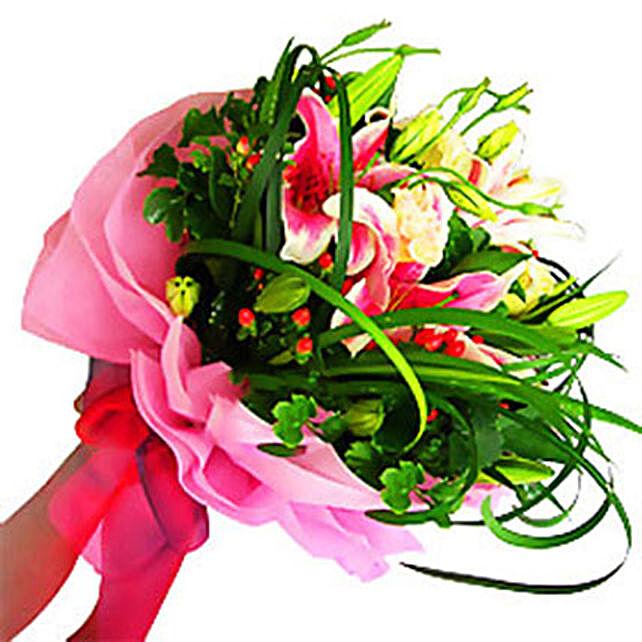 Admirable Stargazer Bouquet:Lilies to Malaysia