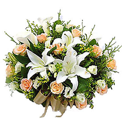 Basket Of Mixed Flowers:Send Flowers to Malaysia