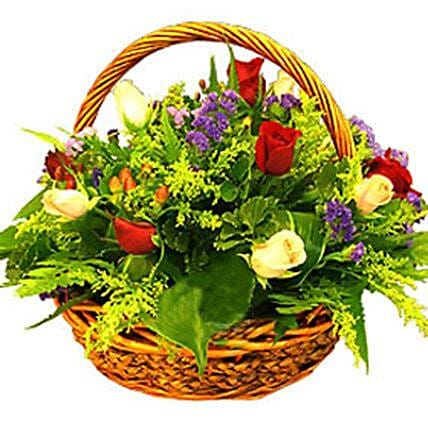 Basket of Undefined Charm:Send mixed Flowers to Malaysia