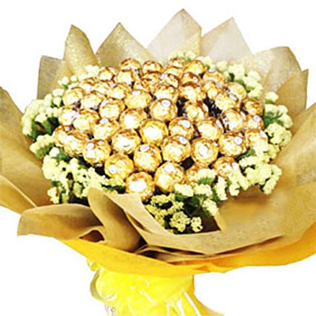 Golden Bouquet Of Chocolates