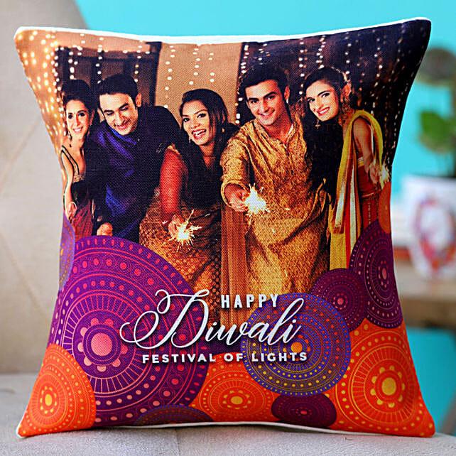 online printed photo cushion for diwali