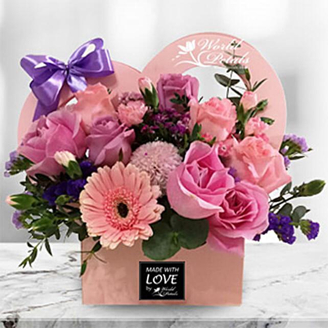 Pastel Pink Flower Arrangement