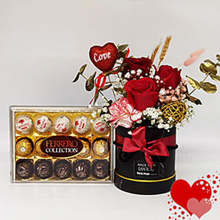 Flower And Chocolate Gift Set
