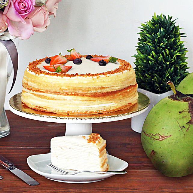 Tempting Coconut Crepe Cake