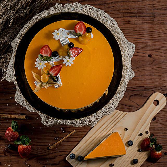 Tempting Mango Jelly Cheesecake