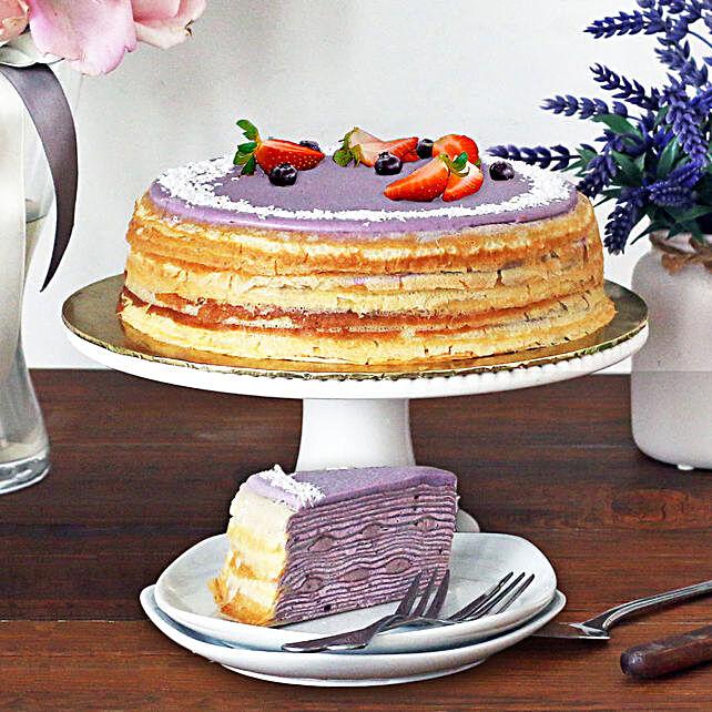 Tempting Purple Sweet Potato Crepe Cake