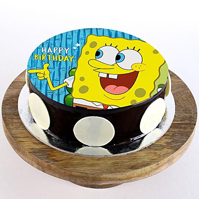 Spongebob Chocolate Photo Cake