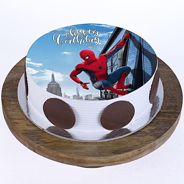 The Spiderman Photo Cake