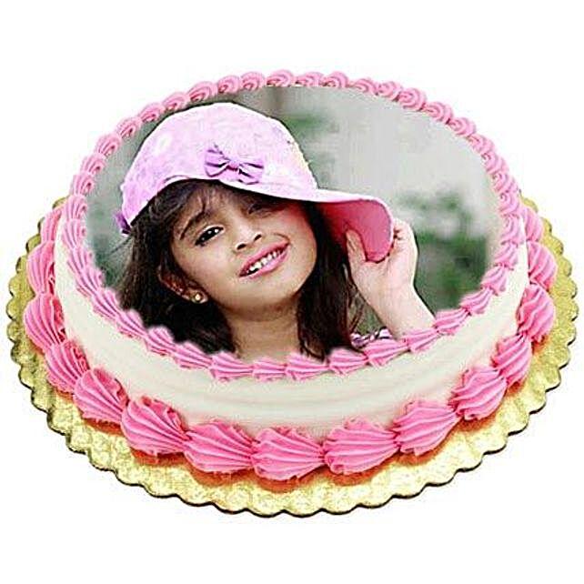 Vanilla Photo Cake:Send Birthday Cakes to Malaysia