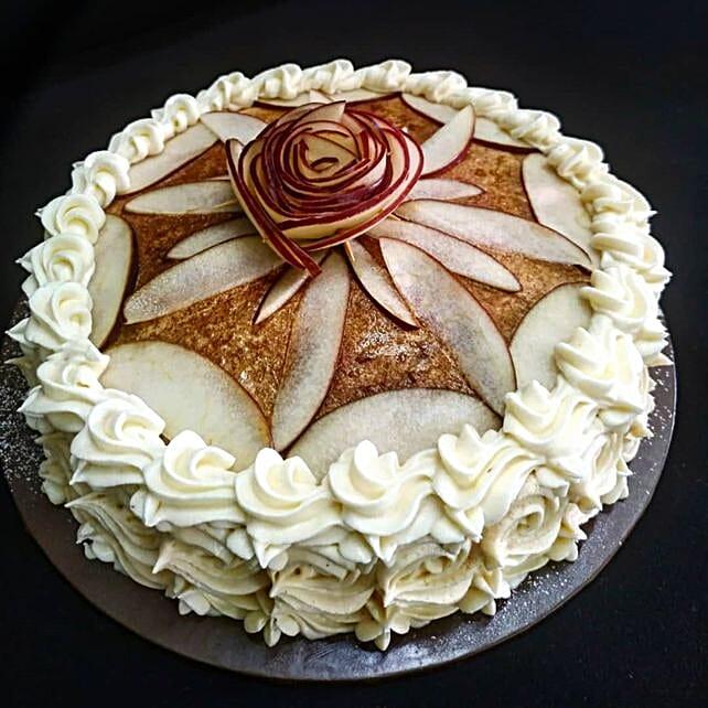 Palatable Apple Cinnamon Cake Half Kg:Send Anniversary Cakes to Malaysia